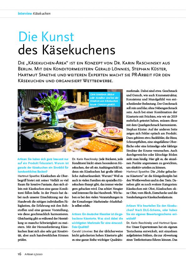 Artisan Magazin Käsekuchen